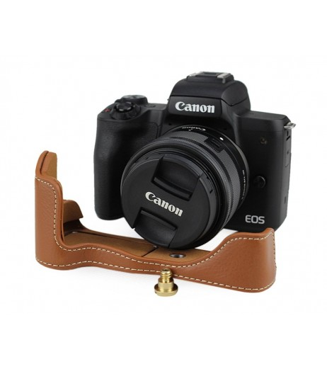 Canon EOS M50 Genuine Leather Half Camera Case