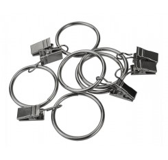 24 Pieces 1-1/4'' Curtain Clip Rings