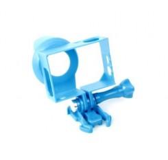 GoPro Lens Hood Housing Frame Mount for Hero 3 / 3+ / 4 Camera - Blue