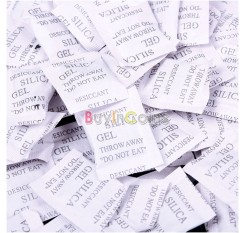 100 Packs 1g Silica Gel Desiccant Sachet Pouches Water Strong Adsorb Moisture