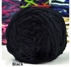 100g Soft Knitting Chunky Towelling Wool Ball Skein Scarf Yarn Pure Color Cute