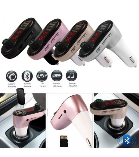 Bluetooth Car Kit FM Transmitter MP3 Player Wireless Radio Adapter USB Charger C5