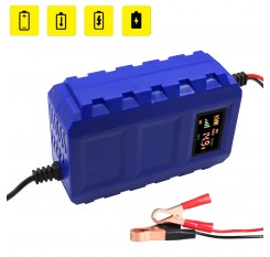 Motorcycle 12V 10A Pulse Repair Smart Automobile Battery Charger Car Portable Blue