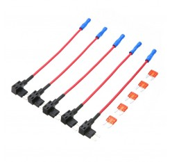 5PCS Car Auto 10A Fuse Tap Adapter Plug Distributor Mini ATM Circuit Holder