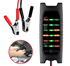12V Car Battery Tester 6 LED Alternator Check Analyzer Lead Diagnostic Tool