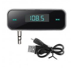 Wireless 3.5mm Car Kit Modulator Handsfree MP3 Audio Music Player FM Transmitter In-car LCD Vehicle