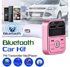Universal FM Transmitter Bluetooth Car Kit MP3 Player LED Dual USB 4.1A Car Charger