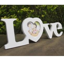 Sweet Love Series Wedding Photo Frame - White