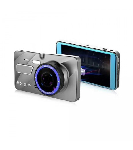 4 Inch 2.5D Dual Lens Car DVR HD 1080P Dash Cam Video Recorder Camera Carcam Night Vision G-sensor Zinc Alloy