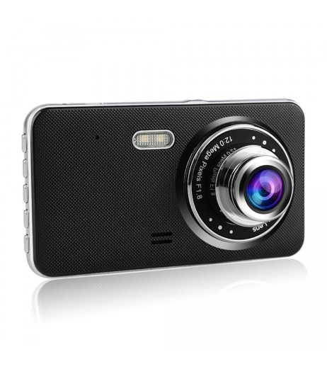 "4"" 1080P Full HD Touch Screen Car DVR Camera Video Recorder Dual Dash Cam w/ Night Vision G-Sensor"