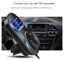 Bluetooth Hands-free FM Modulator Stereo Car MP3 Player Audio Adaptor Transmitter Support TF Fit For iPhone XS 8 7&Android