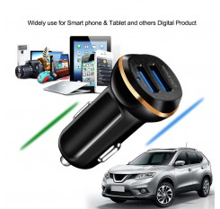 LED Dual USB 3.1A 2 Port Adapter Car Charger Fast Socket Lighter Charging For Phone