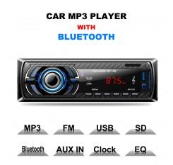 Black Car Stereo Audio Mini 1 Din MP3 Player Handsfree Bluetooth Speaker Card Reader USB Flash Drive Machine SD slot