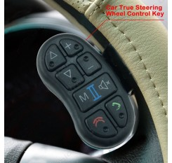 Refit Car Universal Steering Wheel Control Key Button for Android DVD/GPS Navigation Player Bluetooth Phone,8 Mute Keys