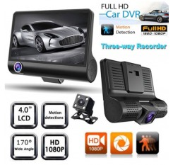 4'' Dual Lens CAR DVR HD 1080P Vehicle Dash Cam Rear Video Camera Recorder cd