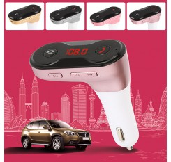 Car Kit Handsfree Wireless Bluetooth FM Transmitter LCD MP3 Player USB/SD Charger