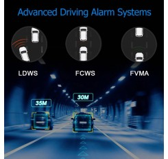 HD 1080P 150°  Car DVR Starlight Night Vision Camera Recorder ADAS G-sensor