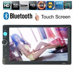 7'' HD 2 DIN FM/MP5/MP3/USB/AUX Bluetooth Touch Car Screen Stereo Radio+ Camera