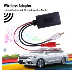 Universal Car bluetooth Wireless Connection Adapter for Stereo with 2 RCA AUX IN Music Audio Input Cable for Truck Auto