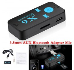 Bluetooth 4.1 Wireless USB Receiver Audio Adapter 3.5mm Jack AUX TF Card Reader Microphone Hands Free Call