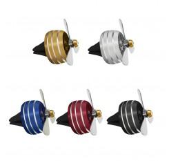 1Pc Mini Fan Car Air Freshener Auto Vent Clip Outlet Aromatherapy Interior Accessories