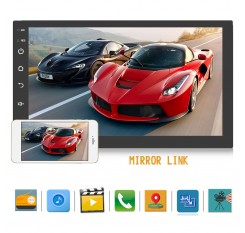 "Universal 2 Din 7"" Android Car Radio Multimedia Player Bluetooth GPS Navigation Stereo Mirror Link FM  Wifi  Headunit"