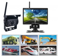 7 Inch On-board Display With Built-in Wireless Bus Camera HD Night Vision Truck