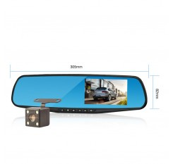 4.3 Inch 1080P HD Car Rearview Mirror Dvr Full Driving Video Recorder Camera Reverse Image Dual Lens Dash Cam