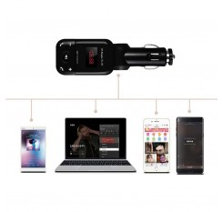 Car Auto Stereo Bluetooth Hands Free Kit FM Transmitter U Disk TF Card MP3 Music Player 12V-24V
