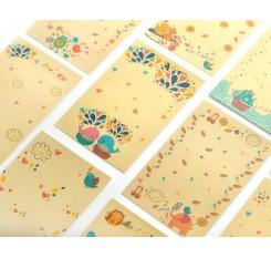80 Sheets Fujifilm Instax Mini Films Decor Sticker Borders - Cartoon