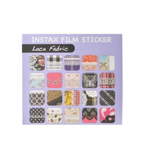 20 Sheets Fujifilm Instax Mini Films Decor Sticker Borders - Lace
