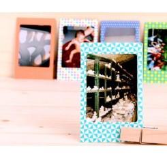 80Pcs Photo Sticker Borders for Fujifilm Instax Mini Films - Geometric