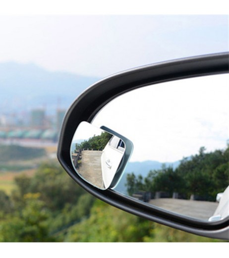2Pcs Car 360 Degree Adjustable Motorcycle Blind Spot Rear View Mirror Accessories
