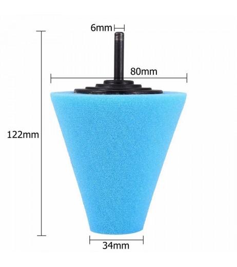 1PC Car Wheel Hub Polish Buffing Shank Polishing Sponge Cone Metal Foam Pad