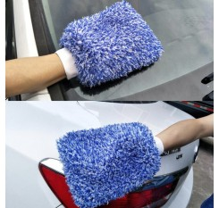 Soft Water Absorption High Density Microfiber Car Washing Cleaning Mitten Glove Striking