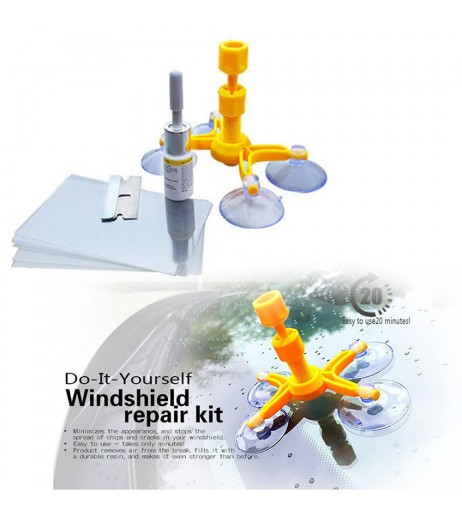 DIY Car Wind Windscreen Windshield Repair Tool Set Glass Kit For Chip Crack