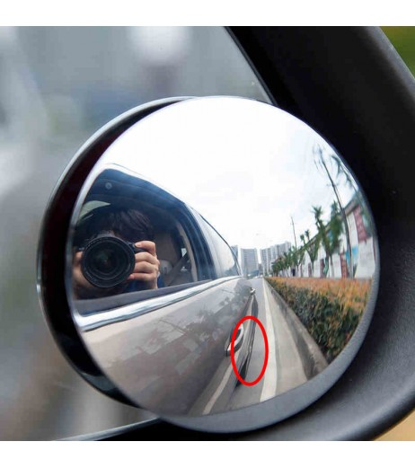 2Pcs 2inch Round Car Blind Spot RearView Mirrors Rearview Wide Angle Round Convex Mirror
